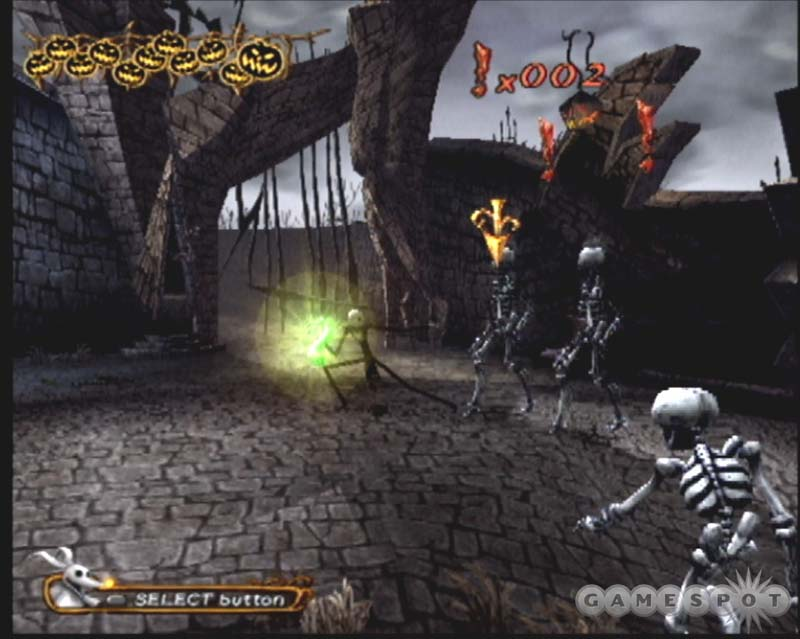 The Nightmare Before Christmas Game Ps2 Footage - stepletitbit